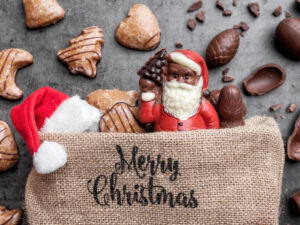 festive-christmas-background-with-sweets-and-decoration-picture-id871258522